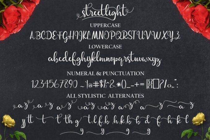 Free Font Design 無料 フリー フォント 追加 デザイン 筆記体 Streetlight