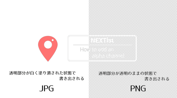 Adobe Photoshop 背景 透明 書き出し PNG JPG