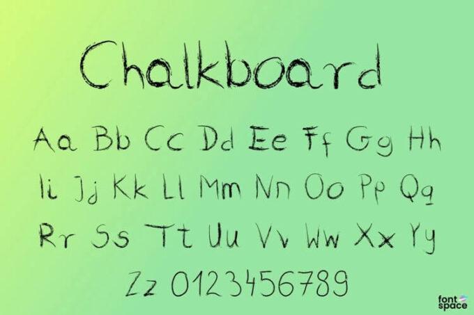 Free Font 無料 フリー おすすめ フォント クレヨン 追加 Chalkboard Font
