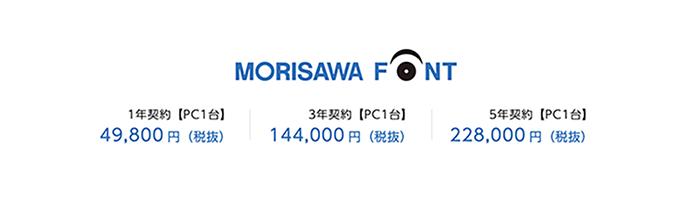 モリサワフォント morisawa font 価格
