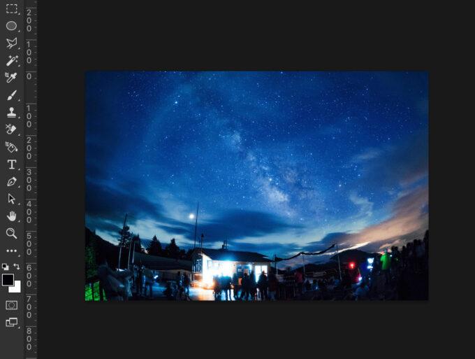 Photoshop Overlay Texture Free オーバレイテクスチャー 無料 PNG 夜空 画像 準備