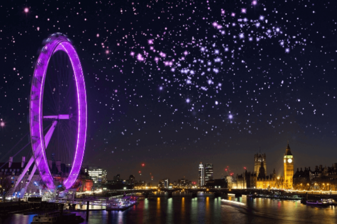 Photoshop Free Starry Sky Overlay Texture Bokeh フォトショップ オーバーレイ テクスチャー 無料 フリー 星空 スター 星 Purple Lights