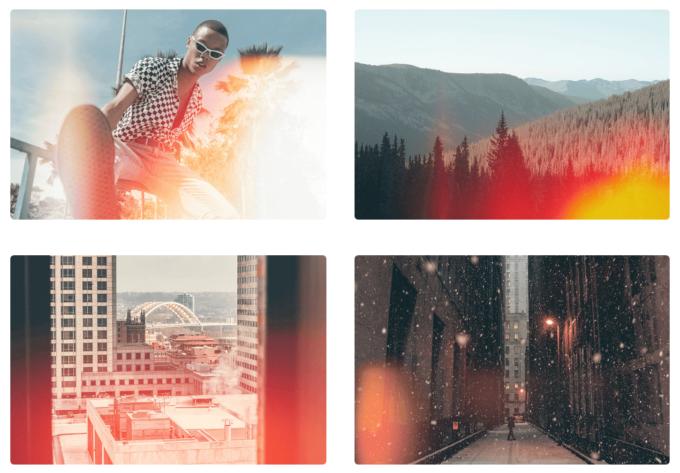 Photoshop Free  Retro Film Overlay Texture フォトショップ オーバーレイ テクスチャー 無料 フリー レトロ フィルム フレア RETRO LIGHT LEAKS SET