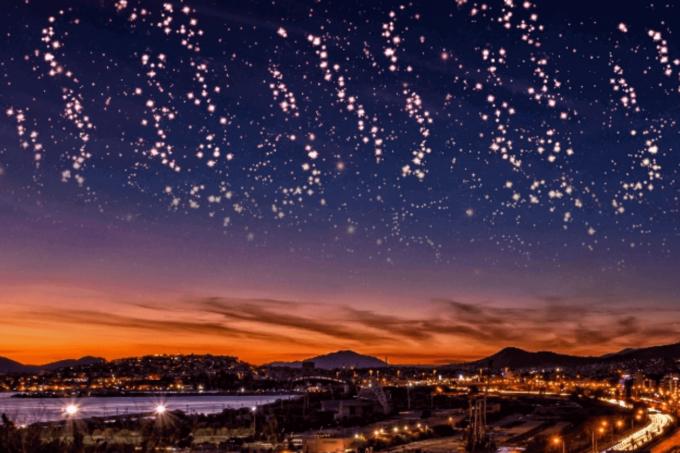 Photoshop Free Starry Sky Overlay Texture Bokeh フォトショップ オーバーレイ テクスチャー 無料 フリー 星空 スター 星 Sparks in the Sky