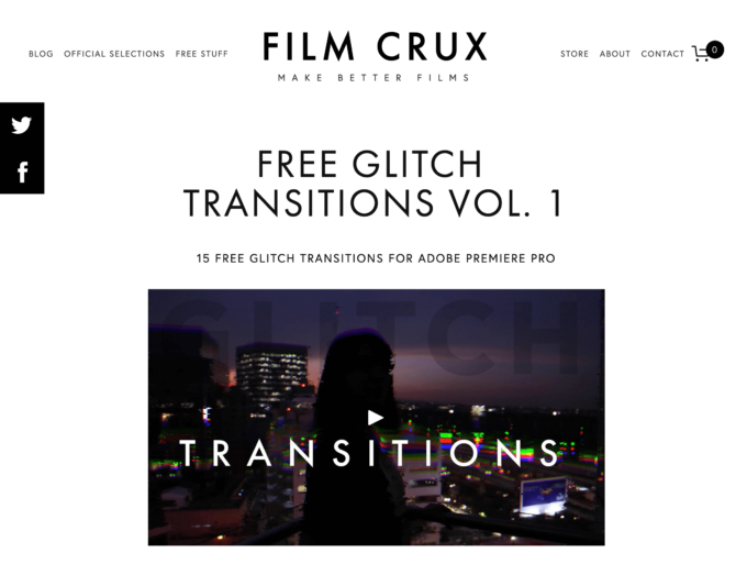 Premiere Pro FILM CRUX FREE GLITCH TRANSITIONS VOL. 1 無料 グリッチ トランジション