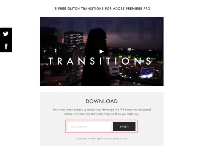 Premiere Pro FILM CRUX FREE GLITCH TRANSITIONS VOL. 1 無料 グリッチ トランジション ダウンロード メールアドレス