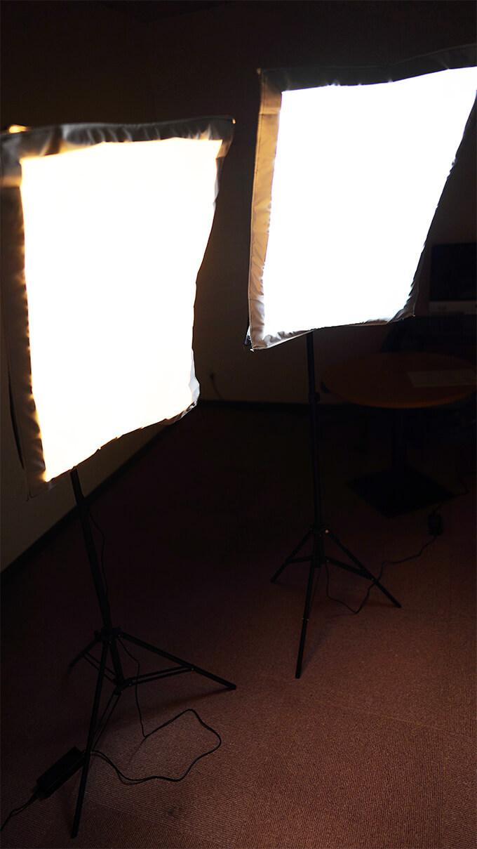 Neewer 50x68cmソフトボックス写真照明用キット 組み立て 点灯