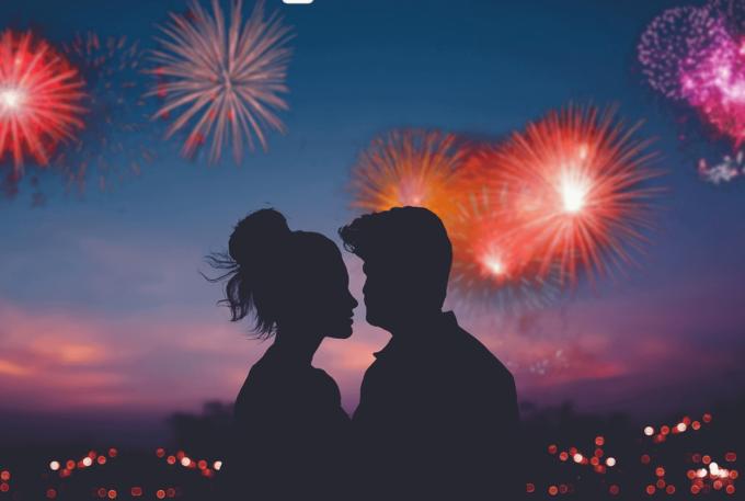 Photoshop Free Fireworks Overlay Texture フォトショップ オーバーレイ テクスチャー 無料 フリー 花火 ファイヤーワークス スパーク Color Riot