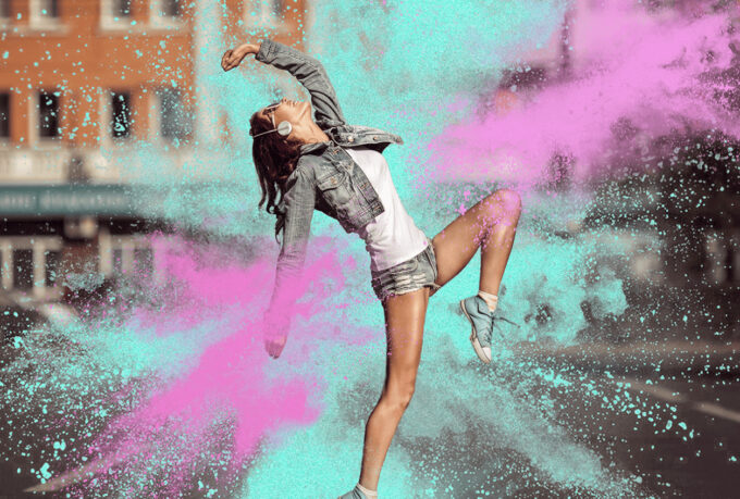 Photoshop Free Powder Explosion Overlay Texture Bokeh フォトショップ オーバーレイ テクスチャー 無料 フリー 粉 パウダー Days of Romance