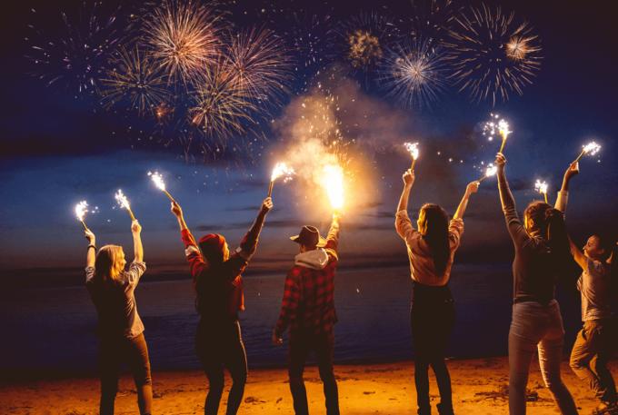 Photoshop Free Fireworks Overlay Texture フォトショップ オーバーレイ テクスチャー 無料 フリー 花火 ファイヤーワークス スパーク Dreamy Night