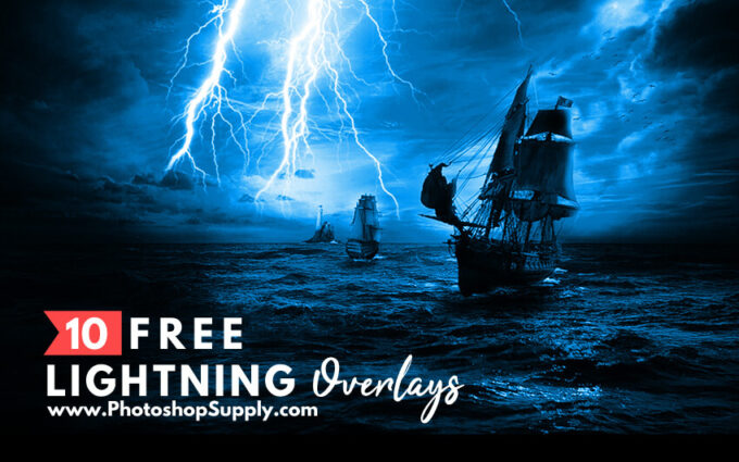 Photoshop Free Lightning Overlay Texture フォトショップ オーバーレイ テクスチャー 無料 フリー 雷 サンダー ライトニング Lightning Overlays for Photoshop