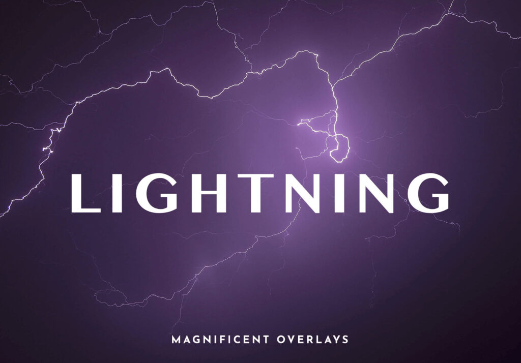 Photoshop Free Lightning Overlay Texture フォトショップ オーバーレイ テクスチャー 無料 フリー 雷 サンダー ライトニング Lightning MAGNIFICENT LIGHTNING OVERLAYS