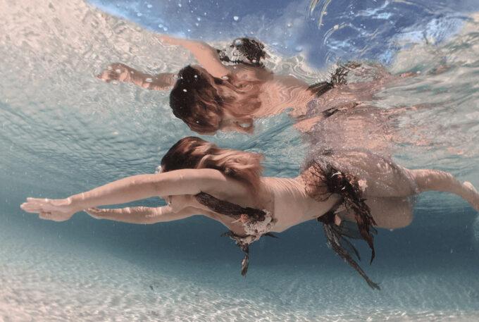 Photoshop Free Underwater Overlay Texture フォトショップ オーバーレイ テクスチャー 無料 フリー アンダー ウォーター 水中 海 Lost Sun