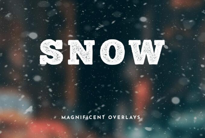 Photoshop Free Snow Overlay Texture Bokeh フォトショップ オーバーレイ テクスチャー 無料 フリー スノー 雪 クリスマス MAGNIFICENT SNOW OVERLAYS