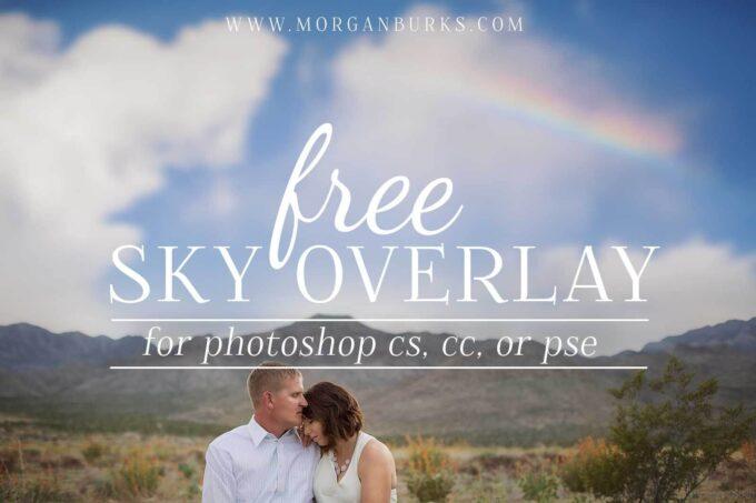 Photoshop Free Rainbow Overlay Texture Bokeh フォトショップ オーバーレイ テクスチャー 無料 フリー 虹 レインボー  Free Sky Overlay