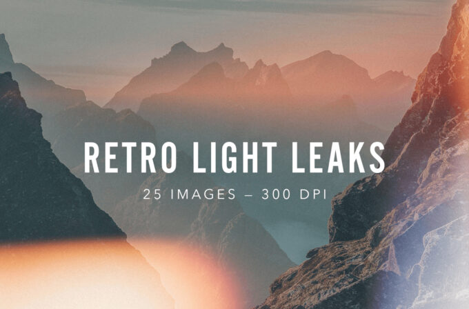 Photoshop Free Overlay Texture フォトショップ オーバーレイ テクスチャー 無料 フリー 光 フレア RETRO LIGHT LEAKS SET