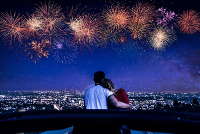 Photoshop Free Fireworks Overlay Texture フォトショップ オーバーレイ テクスチャー 無料 フリー 花火 ファイヤーワークス スパーク Sparkling Glow