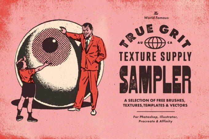Photoshop Free Retro Vintage Overlay Texture フォトショップ オーバーレイ テクスチャー 無料 フリー レトロ フィルム ヴィンテージ グランジ True Grit Sample Pack