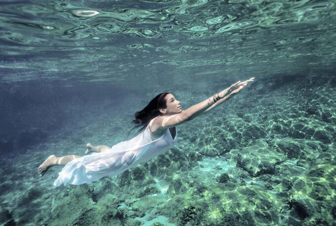 Photoshop Free Underwater Overlay Texture フォトショップ オーバーレイ テクスチャー 無料 フリー アンダー ウォーター 水中 海 Undersea Journey