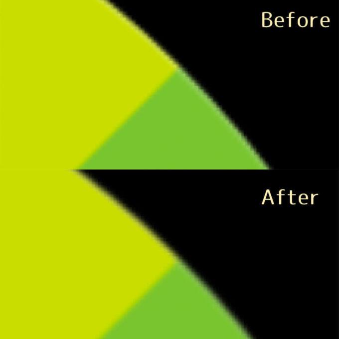 Adobe After Effects FXAA 無料 プラグイン 使い方 ビットマップ画像 エッジ 滑らか