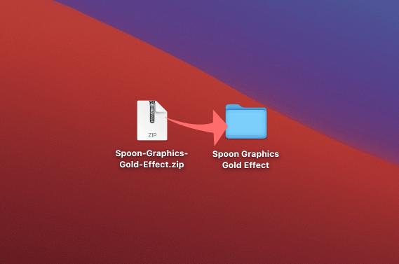 Adobe Photoshop Free Action Gold Effects フォトショップ フリー 無料 アクション ゴールド エフェクト Spoon-Graphics-Gold-Effect.zip