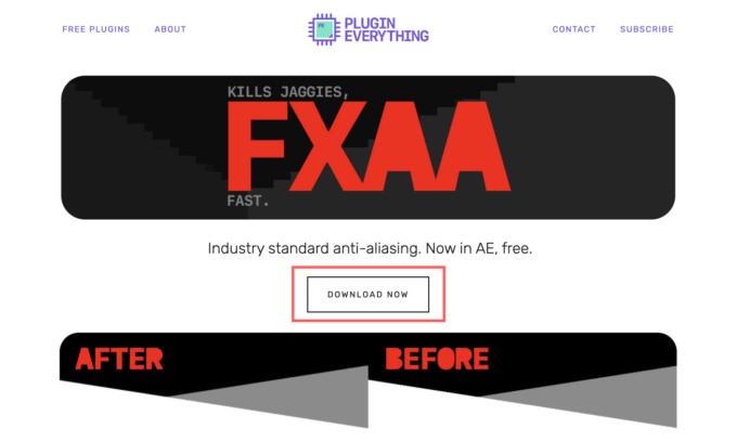 After Effects FXAA 無料 プラグイン 配布 サイト