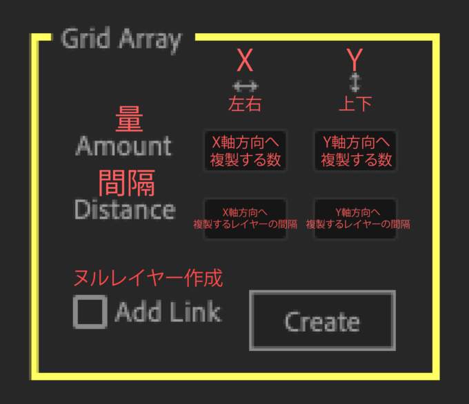 Adobe After Effects Utility BOX Clones Information クローン ツール Grid Array