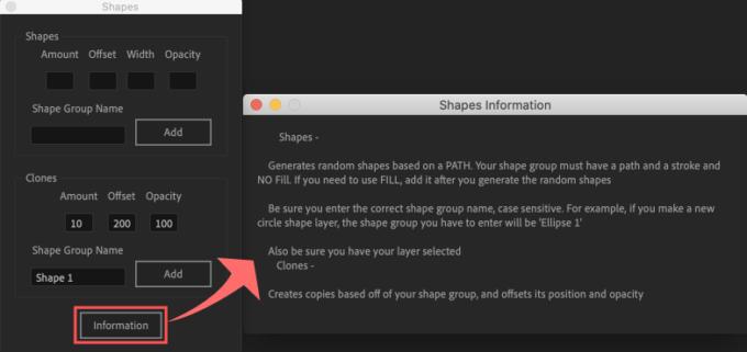 Adobe After Effects Utility BOX Shapes 1 Information ツール 操作 方法 インフォメーション 機能解説