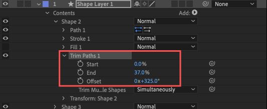Adobe After Effects Utility BOX Shapes 1 ツール 操作 方法 Trim Paths