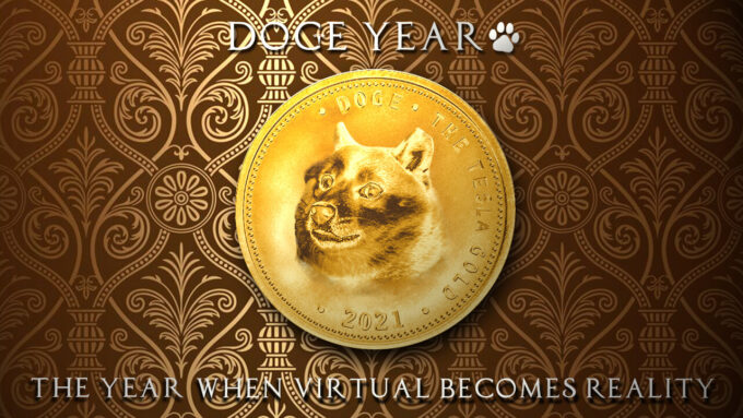 仮想通貨 Cryptocurrency Doge Coin ドージコイン  Tesla Gold テスラ ゴールド イーロンマスク