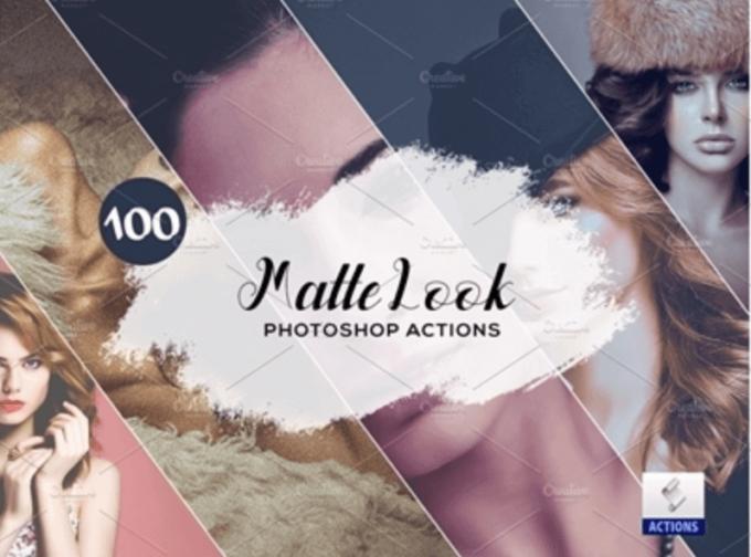 Adobe Photoshop Free Action Material フリー アクション 素材 セピア sepia お洒落 かっこいい マット 艶消し 100 Matte Look Photoshop Actions