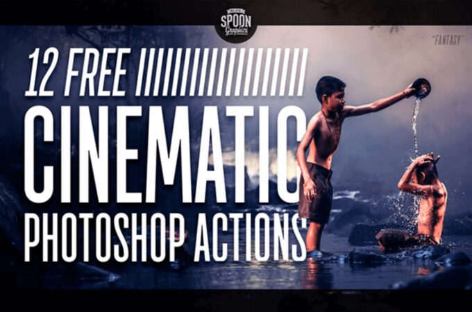 Adobe Photoshop Free Action Material フリー アクション 素材 イラスト シネマ フィルター 12 Free Cinematic Photo Effect Actions