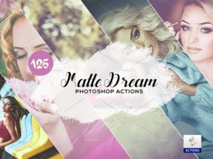 Adobe Photoshop Free Action Material フリー アクション 素材 セピア sepia お洒落 かっこいい マット 艶消し 125 Matte Dream Photoshop Actions