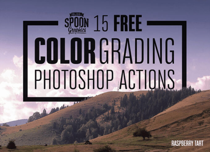 Adobe Photoshop Free Action Material フリー アクション 素材 カラーグレーディング フィルター 15 Free Color Grading Photoshop Actions