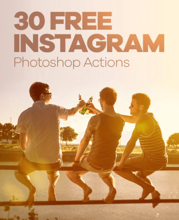 Adobe Photoshop Free Action Material フリー アクション 素材 フィルター インスタグラム 30 Free Instagram Photoshop Actions