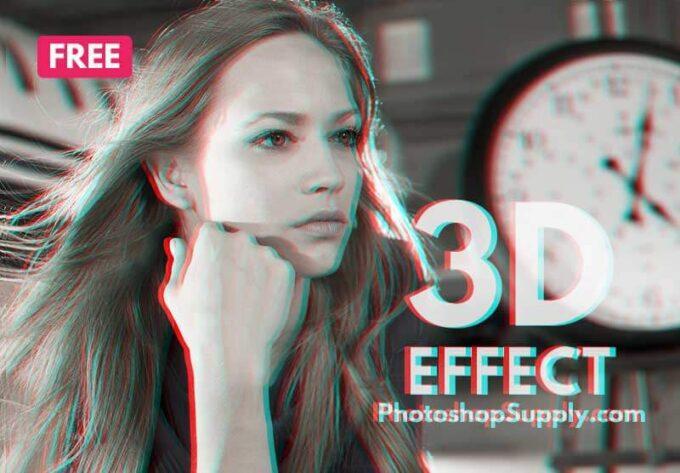 Adobe Photoshop Free Action Material フリー アクション 素材 かっこいい お洒落 3D Effect Photoshop
