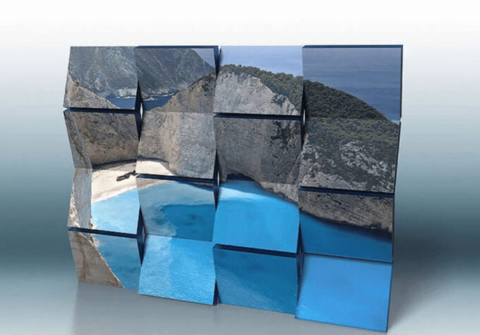 Adobe Photoshop Free Action Material 無料 フリー アクション 素材 ユニーク お洒落 かっこいい モダン ユニーク 3D Bars and Tiles
