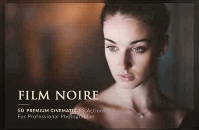 Adobe Photoshop Free Action Material フリー アクション 素材 フィルター Instagram インスタグラム 50 Film Noire PS Actions Bundle