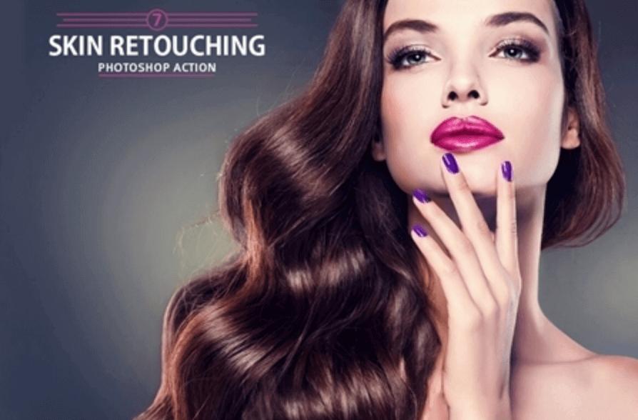 Adobe Photoshop Free Action Material フリー アクション 素材 肌 綺麗 スキン 7 Skin Retouching Photoshop Action