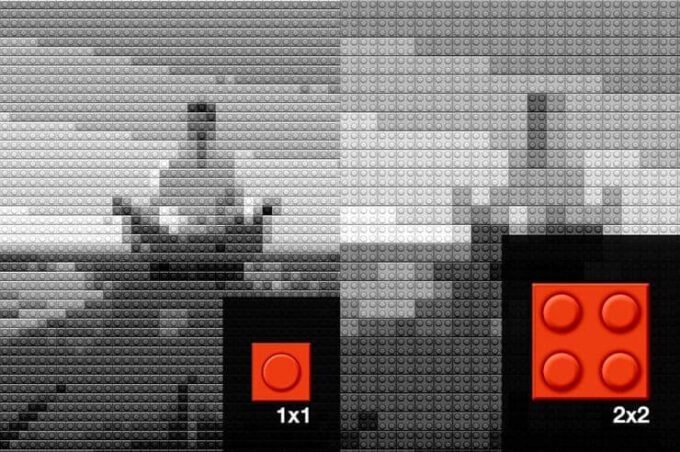 Adobe Photoshop Free Action Material フリー アクション 素材 ユニーク ブロック Awesome Lego Mosaic Actions