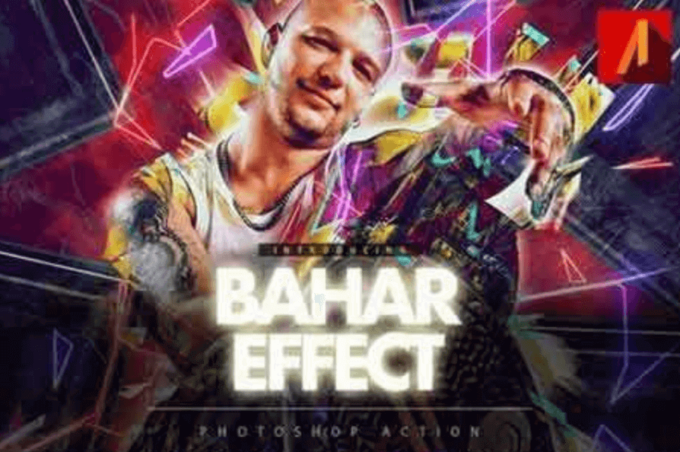 Adobe Photoshop Free Action Material フリー アクション 素材 お洒落 かっこいい グリッチ アナグリフ glitch anaglyph Bahar Effect
