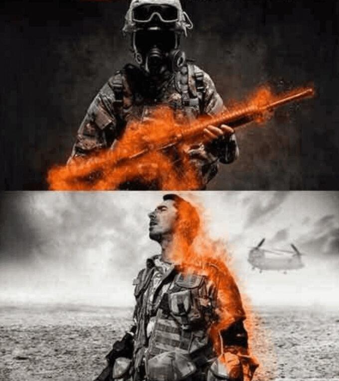 Adobe Photoshop Free Action Material 無料 フリー アクション 素材 お洒落 かっこいい 炎 ファイヤー Battleground Flame