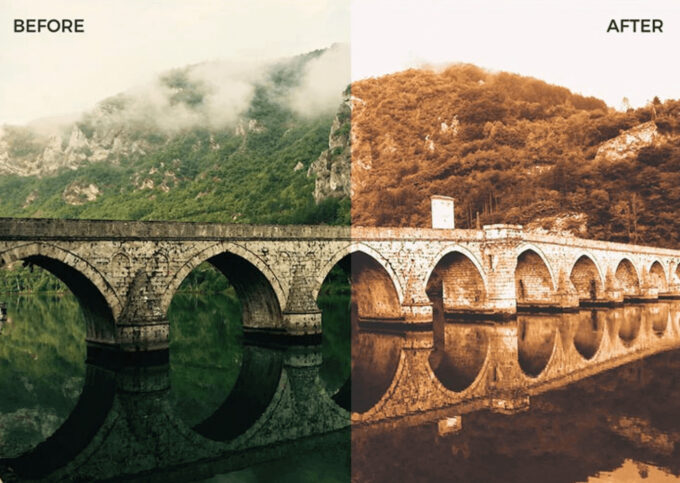 Adobe Photoshop Free Action Material フリー アクション 素材 ヴィンテージ レトロ 18 Free Vintage Photoshop Actions