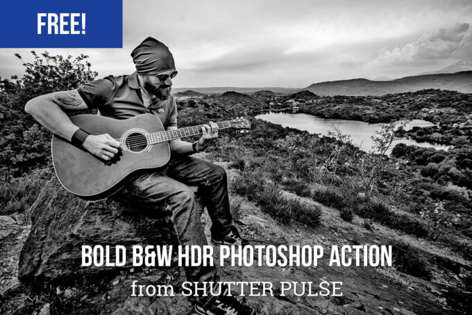 Adobe Photoshop Free Action Material フリー アクション 素材 モノクロ 白黒 Bold B&W HDR Photoshop Action