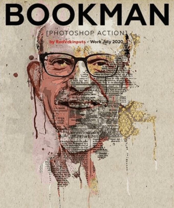 Adobe Photoshop Free Action Material フリー アクション 素材 モダン お洒落 かっこいい モダン Bookman