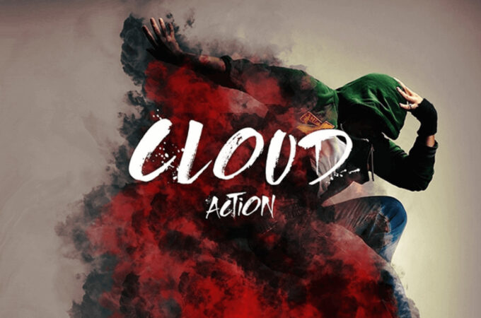 Adobe Photoshop Free Action Material フリー アクション 素材 煙 スモーク CLOUD PHOTOSHOP ACTION