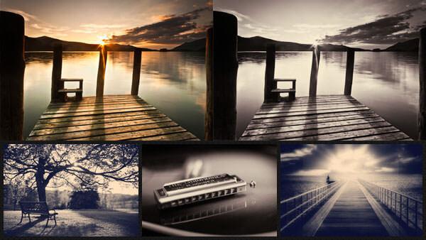 Adobe Photoshop Free Action Material フリー アクション 素材 ヴィンテージ レトロ オールドフィルム セピア dear diary