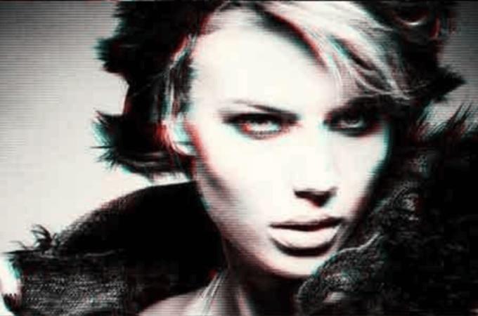 Adobe Photoshop Free Action Material フリー アクション 素材 イラスト グリッチ デジタル サイバー かっこいい Digital Glitch Effect PSD Templates