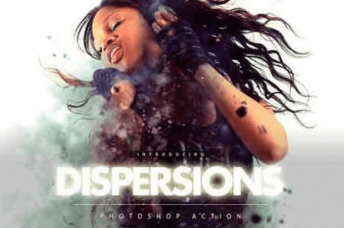 Adobe Photoshop Free Action Material 無料 フリー アクション 素材 お洒落 かっこいい Dispersions Photoshop Action