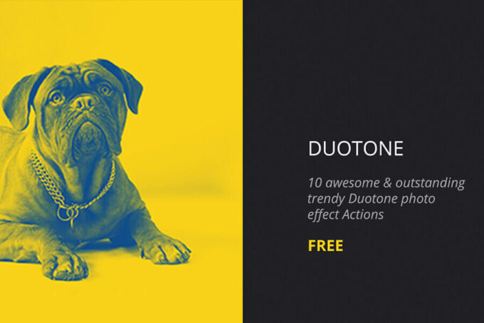Adobe Photoshop Free Action Material フリー アクション 素材 お洒落 デュオトーン Duotone Photoshop Actions
